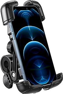 OMOTON Soporte Móvil Bicicleta, Anti-Vibración Soporte Móvil Moto de Operación con [Una Sola Mano], Rotación 360° Base Móv...