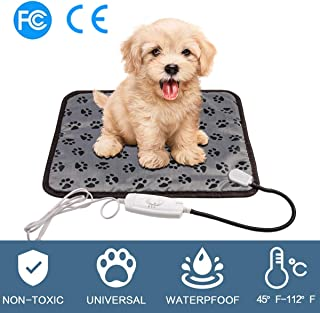egosopp Pet Heating Pad Pet Bed Warmer Blanket for Dogs Cats Waterproof Electric Heat Mat with Chew Resistant Cord