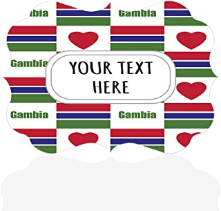 Sign Destination Aluminum Metal Wall Décor Custom Gambia Flag Heart Pattern Photo Print Wall Art - Benelux Shape, 12
