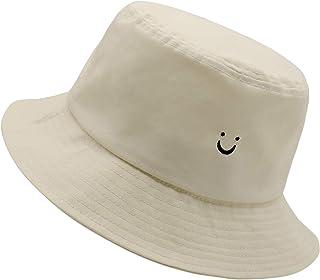 Smile Face Hat Summer Travel Bucket Beach Sun Hat Night Call Embroidery Visor Outdoor Cap