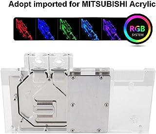 Diyeeni GPU Water Cooling, Bloque de Agua de enfriamiento de Tarjeta gráfica con iluminación LED RGB, Base de Cobre, Mos Flow Way, para NIVIDA GTX960/GTX950