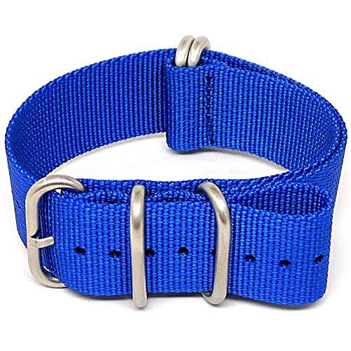Daluca cinturino nato in nylon balistico–blu opaco (fibbia): 24mm