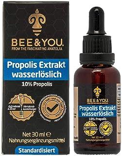 Bee & You Propolis extracto de tintura soluble en agua 10% (30 ml) (propóleos sin alcohol, estandarizado al 10%, comercio justo, sin aditivos)