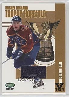 Ilya Kovalchuk #1/1 (Hockey Card) 2002-03 In the Game Parkhurst Retro - Rocket Richard Trophy Hopefuls - ITG Vault Black #RR-NoN