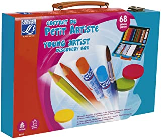 Lefranc & Bourgeois - Caja Madera Artista con 24 lápices y Pasteles al óleo, 12