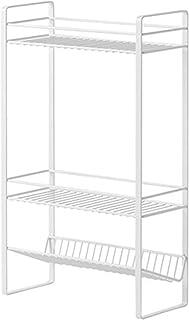 キッチンラック 浴室収納ラック 3段 卓上 シャンプー ボディソープ 小物収納 プラスチック 組み立て 隙間収納 洗面台 キッチン コーナーラック すきま収納 台所 雑物 整理ラック 省スペース 3層収納棚 幅30.6×奥行13×高さ50cm