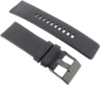 Diesel, cinturino di ricambio per orologio, in pelle, lunghezza di 27 cm, 1657di colore nero, codice articolo LB-DZ1657