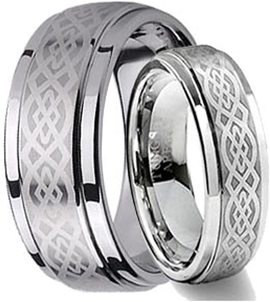 Outlet SALE Free Personalized Laser Engraving Dedication Ring for and Men Wome