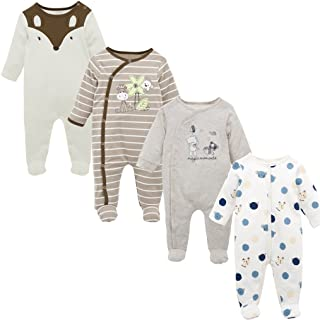 Baby Clothing Clothes Roupas Bebes Long Sleeve Cotton Footies 0-12 Months Infant Vetement Bebe