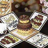 PartyKindom Pop-Up Karte 3D Geburtstagskarte, Geburtstagskarte Geschenk für Frauen Mann Gruß...