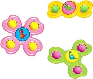 APORAKE 3PCS Suction Toys, Spinning Tops Toy, Spin Sucker Spinner Toys, Kid Bath Toys, Bathtub Toys, Fidget Spinner Pack f...