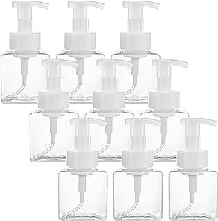 Bekith 9 Pack Foaming Soap Dispenser, 8 Oz Clear Plastic Soap Dispenser Pump Bottles with White Plastic Tops for Liquid Soap