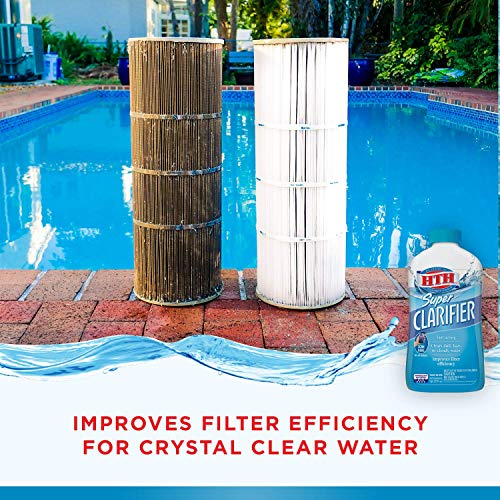 HTH 67023 Super Clarifier Swimming Pool Cleaner, 32 fl oz
