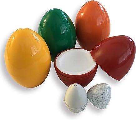 Preisvergleich für THERMO-EI zum Warmhalten von Frühstückseiern / 4-er Set / sortierte Farben / incl. einem kleinen Salzstreuer ebenfalls in Eiform