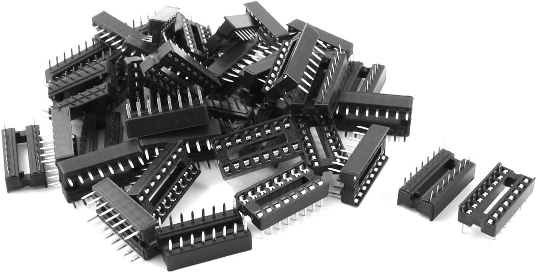 uxcell 40pcs 2.54mm store PCB Board 2 Row DIP supreme 16-Pin IC Solder So Type