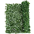 "Giantex Artificial Hedges Faux Ivy Leaves Fence Decorative Trellis Privacy Fence Screen Mesh (59""x118"")"