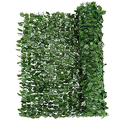 "Giantex Artificial Hedges Faux Ivy Leaves Fence Decorative Trellis Privacy Fence Screen Mesh (40""x95"")"