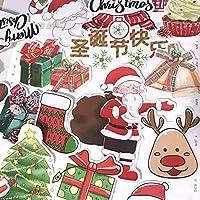 22ピースクリスマスステッカーdiyスクラップブッキングアルバムジャンクジャーナルハッピープランナー装飾ステッカー