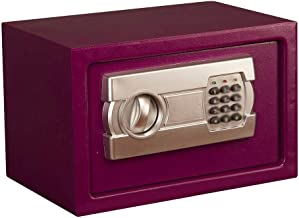 Password Safe,Electronic Steel Safe with Keypad, 2 Manual Override Keys Money,for Home, Business or Travel