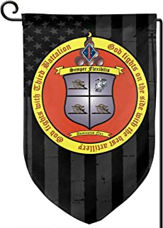 XIAYANGqi 3rd Battalion, 11th Marines American Flag Garden Flag Home Flag Outdoor Flags Double Sided Flag