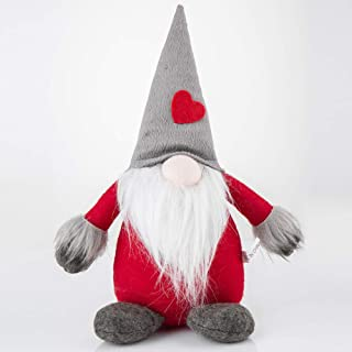 ZHUANGYI Handmade Swedish Gnome Santa Scandinavian Gnome Plush Figurines Gnome Elf Christmas Ornaments Gifts Home Christmas Decoration-Grey