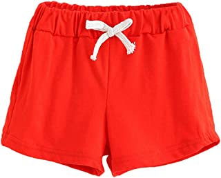 Children Summer Cotton Shorts Unisex Kids Boys And Girl Clothes Fashion Pants by Kolylong 5Y, Hot Pink