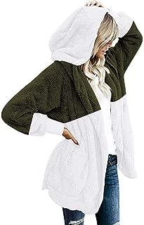 Severkill Women's Winter Warm Faux Fur Coat Long Sleelve Cardigan Boyfriend Shearling Fuzzy Jacket with Pockets