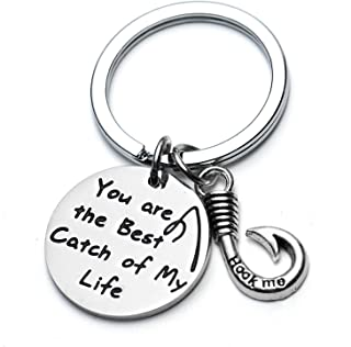 Funny Keychain for Husband Boyfriend Gift You are My Best Catch of My Life Fisherman Gifts
