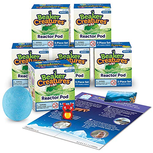 Learning Resources Beaker Creatures Reactor Pods, Series 1, 6 Pack, STEM Certified Science Toy, Ages 5+