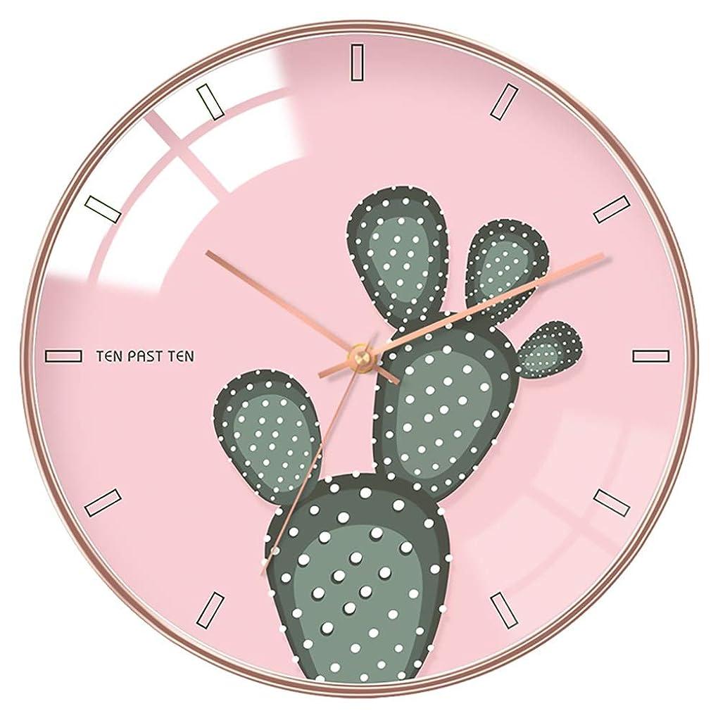 手錠灌漑外交問題ファッション 現代のクリエイティブファッションアートサボテンウ??ォールクロックシンプルな人格クォーツミュートホームクロックリビングルームの寝室の装飾時計 装飾