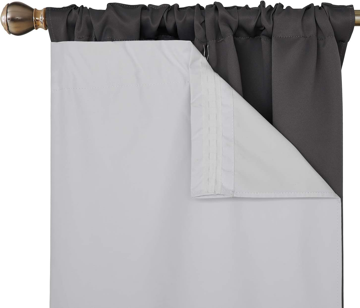 Deconovo Heavy Special price for a limited time Microfiber Rod Pocket wit Ranking TOP15 Liners Blackout Curtain