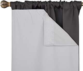 Deconovo Blackout Draperies Rod Pocket Heavy Microfiber Curtain Liners with Triple-Pass Coating Back Layer 27x80 Inch White Set of 2 Curtain Panels Hooks Included