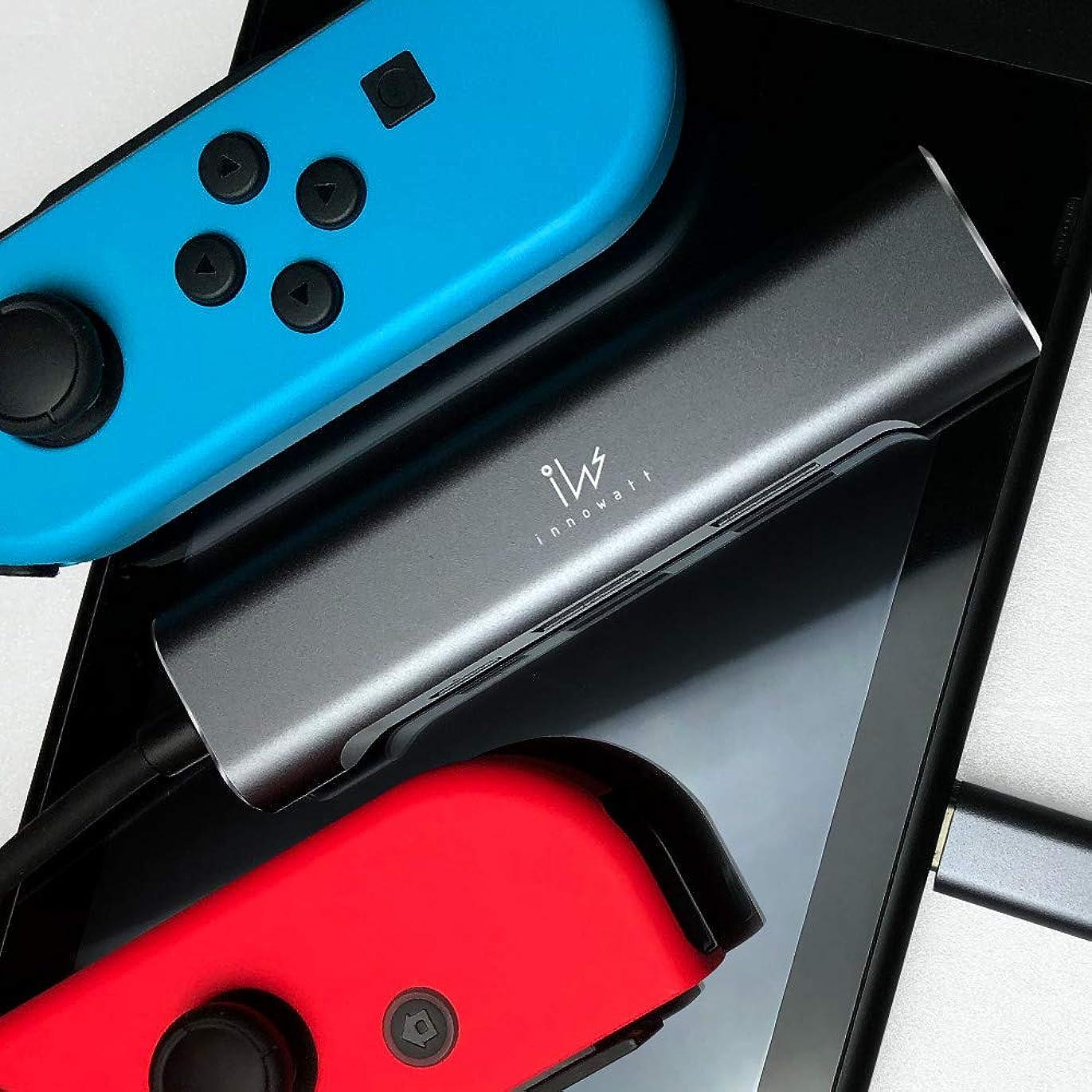 徹底ジョージハンブリー闘争【innowatt】 4in1 Type-C ハブ 変換アダプタ 4K HDMI USB 2.0 3.1 PD充電 薄型 軽量 Nintendo Switch、MacBook Pro、Samsung Galaxy DeX モード など対応