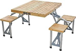 Anlik テーブル・チェアセット おりたたみ 4人 ガーデン ピクニック レジャー BBQ用
