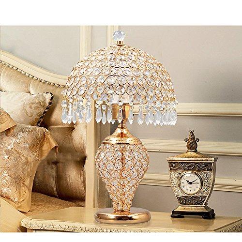 LK Lampe en Cristal de Style européen Lampe Chambre Chevet Moderne Minimaliste Salon Table Basse décoration Lampe créative Cadeau de Mariage (26 * 43) cm