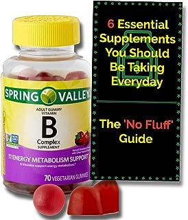 Vitamin B Complex Gummies for Adults with Vitamin B6, B12, C, Biotin, Niacin, Folic Acid, Vegan - Vegetarian - Energy, Spr...