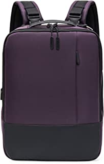 Casual Daypack,Multifunction Large Capacity Business Computer Backpack,USB Charging Port Backpack Unisex Purple