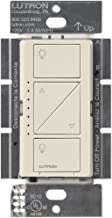 Lutron Caseta Smart Home Dimmer Switch, Works with Alexa, Apple HomeKit, and the Google Assistant | for LED Light Bulbs, Incandescent Bulbs and Halogen Bulbs | PD-6WCL-LA | Light Almond