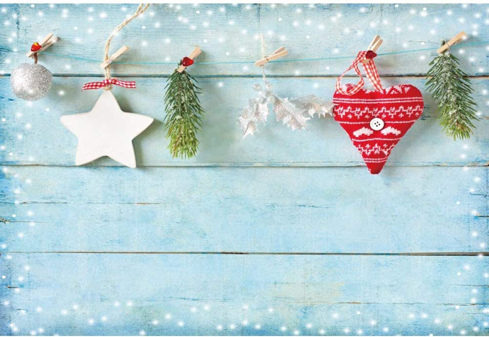 YongFoto 12x8ft Christmas Vinyl Backdrop Indoor Room Bed Xmas Tree Stars Light Glitter Photography Background Party Theme Banner Family Home Decor Poster Portrait Photo Shoot Studio