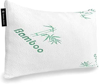 Bloom.Stores | Hypo-allergic Shredded Memory Foam Large Bed Neck Cervical Pillow with Cool, Washable Bamboo Cover & Gel-In...