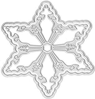 xmelug Il Taglio della Palla del Fiocco di Neve di Natale Muore Le Carte di Carta Fai-da-Te Che Fanno Il Modello per la Decorazione di goffratura Scrapbooking Silver