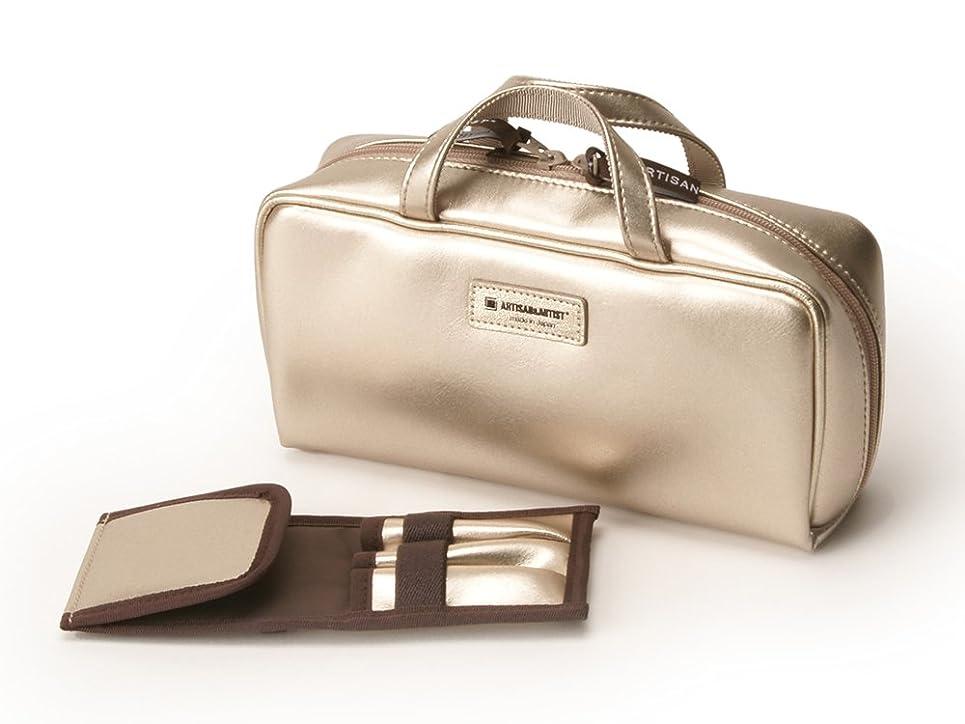 代替案型すばらしいです[アルティザン&アーティスト] ブラシケース付きバッグ型ポーチ<Daily Gold(デイリーゴールド)> 8WP-PT619 ゴールド