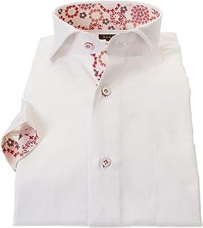 ドレスシャツ ワイシャツ カッターシャツ シャツ STYLE WORKS(スタイルワークス 半袖 綿:100% カッタウェイ 半袖カッタウェイ メンズ 柄シャツ 派手シャツ|RWN100-011