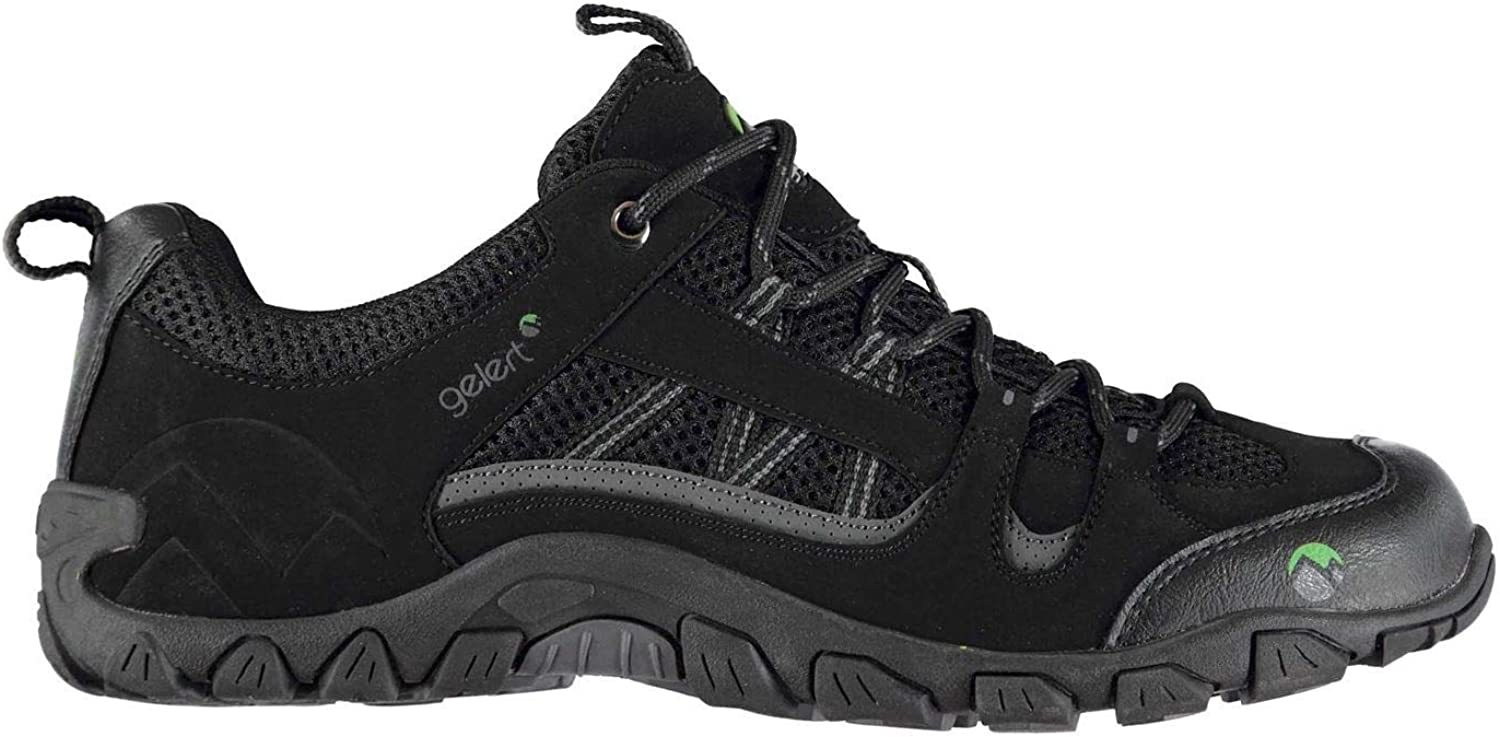 Official Gelert Rocky Walking shoes Mens Black Hiking Footwear Boots