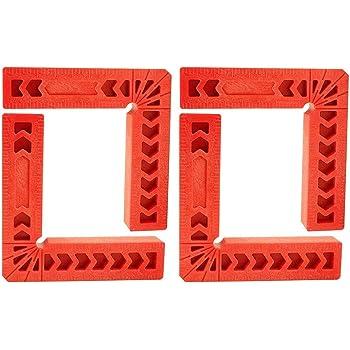 Herramienta de carpinter/ía 4 piezas Abrazadera de posicionamiento de 90 grados Tipo L Abrazaderas de /ángulo recto Posici/ón cuadrada de 90 grados Gobesty Cuadrados de posicionamiento