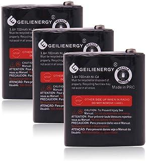 GEILIENERGY 3.6V 700mAh Battery Compatible for Motorola 53615 m53615 KEBT-071-A KEBT-071-B KEBT-071-C KEBT-071-D (3 Pack)