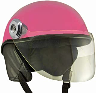 Anokhe Collections Lively Unisex Scooty Helmets for Safety Comfort and Ease (Large, Pink)