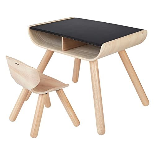 Plantoys- Table & Chair-Black, PT8703, Bois