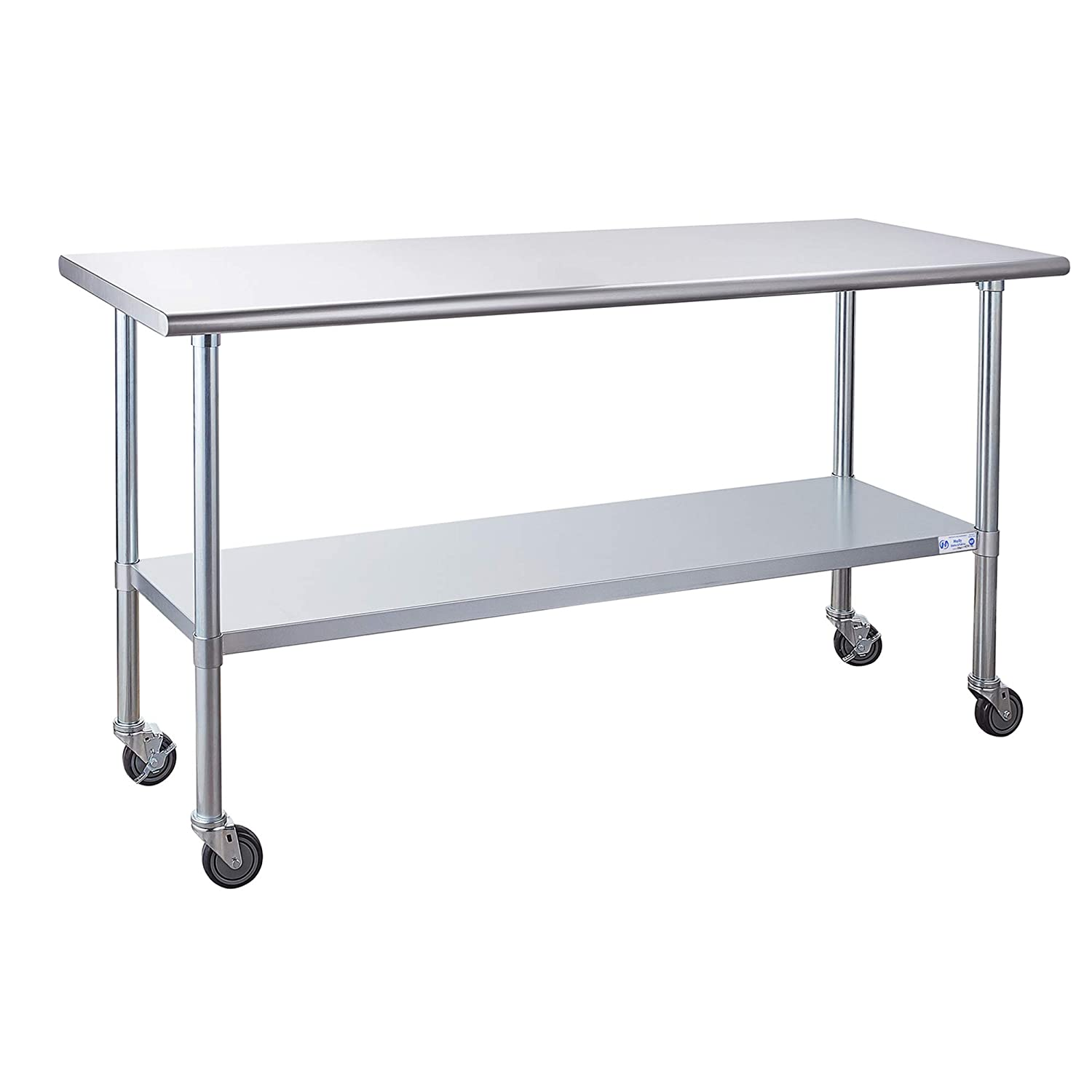 Stainless Steel Table Excellent for Prep Work with Max 58% OFF 24 x 72 Inches Caster