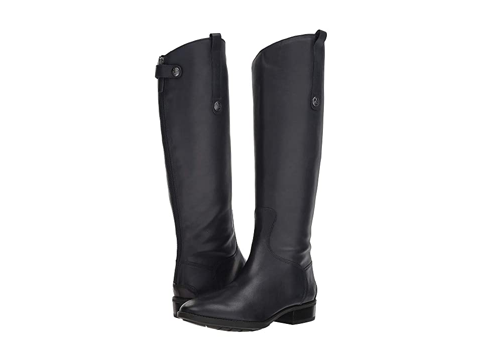 Sam Edelman Penny Leather Riding Boot (Inky Navy Basto Crust Tumbled Leather) Women